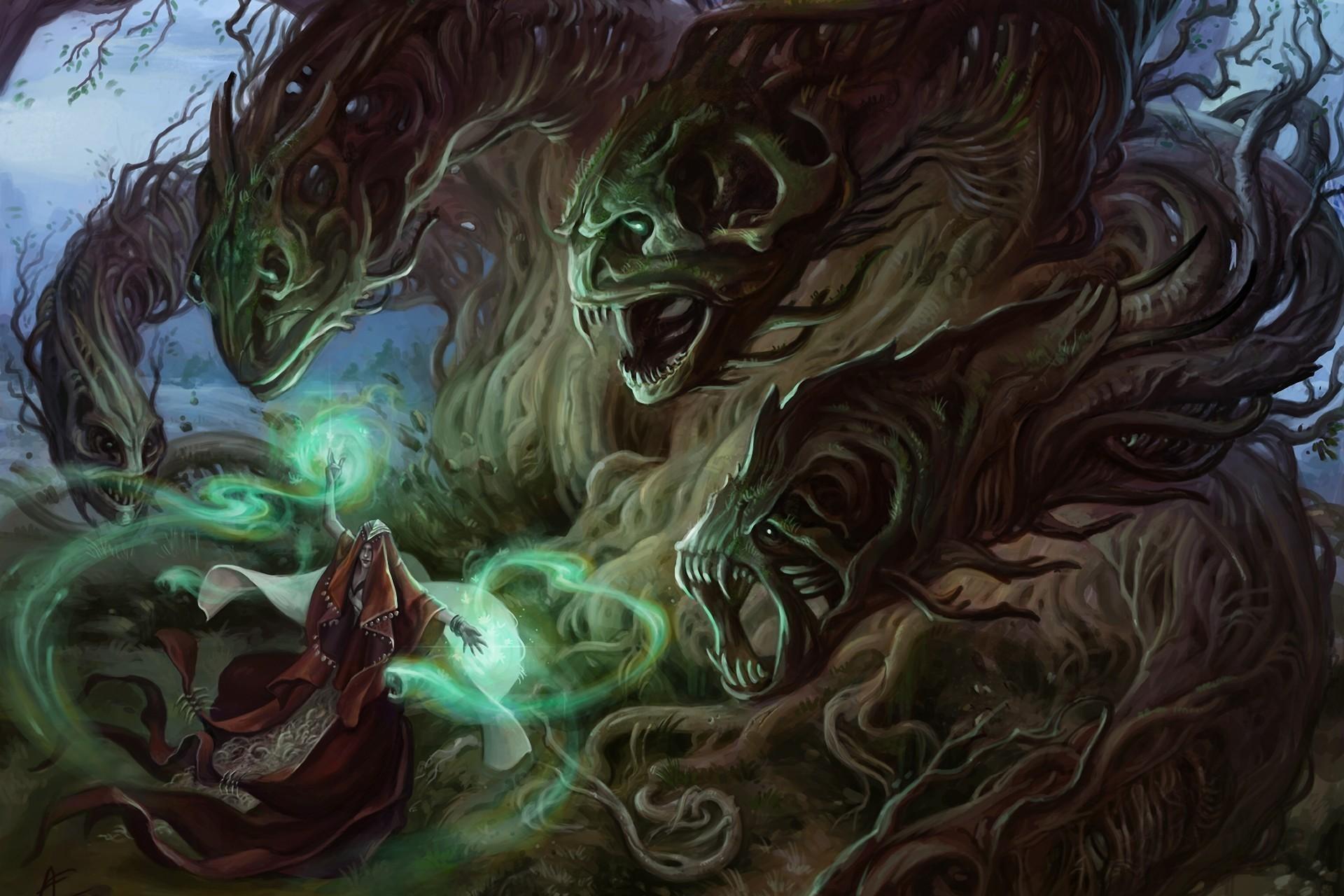 151876 Protetores de tela e papéis de parede Monstros em seu telefone. Baixe Árvores, Fantasia, Monstros, Floresta, Mágico, Mago, Bruxa, Feiticeiro fotos gratuitamente
