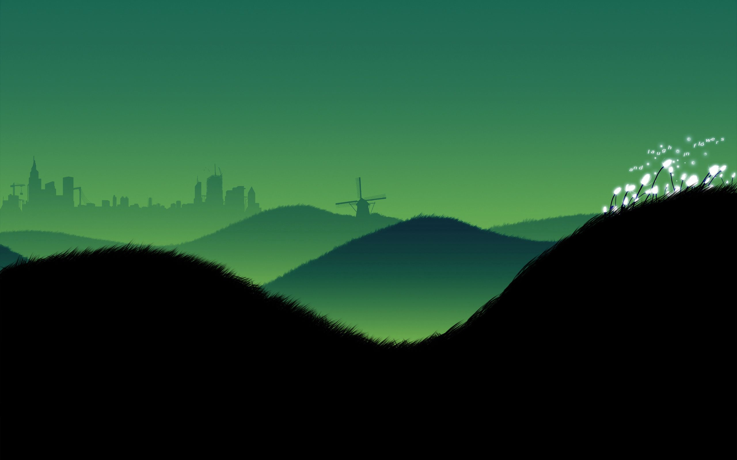128702 download wallpaper Sky, Vector, Minimalism, Beauty, Hills, Evening, Landscapes screensavers and pictures for free
