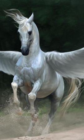 54980 baixar papel de parede Fantasia, Pegasus, Pégaso, Cavalo, Asas - protetores de tela e imagens gratuitamente