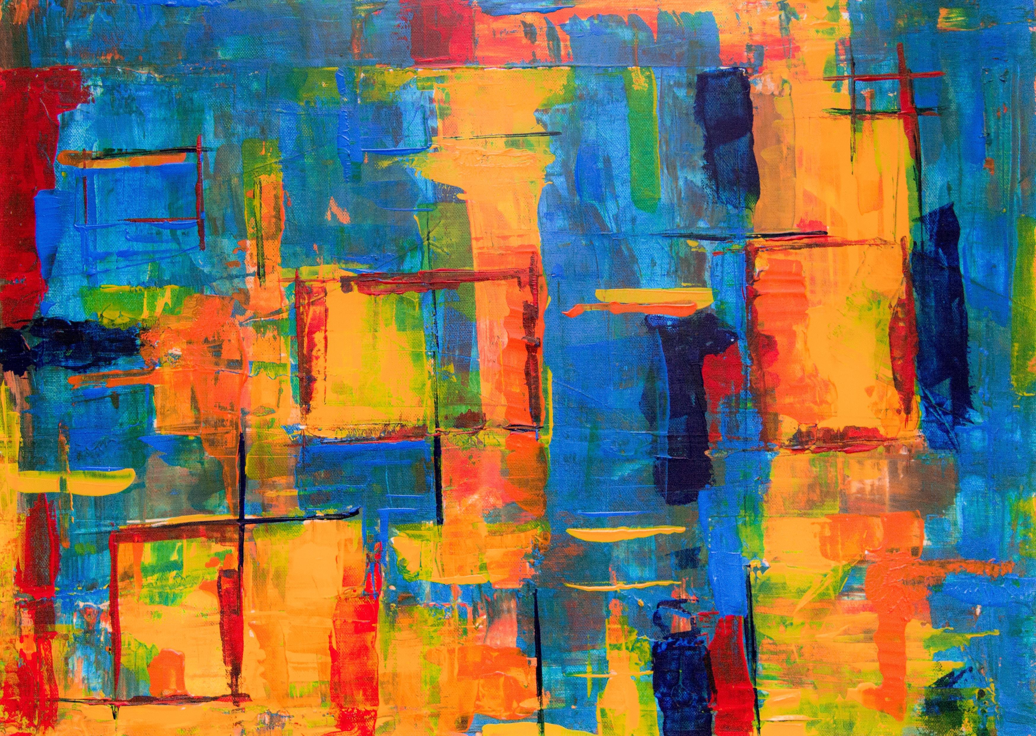 免費壁紙122815:纹理, 画, 油漆, 帆布, 画布, 污渍, 多彩多姿, 五颜六色 下載手機圖片