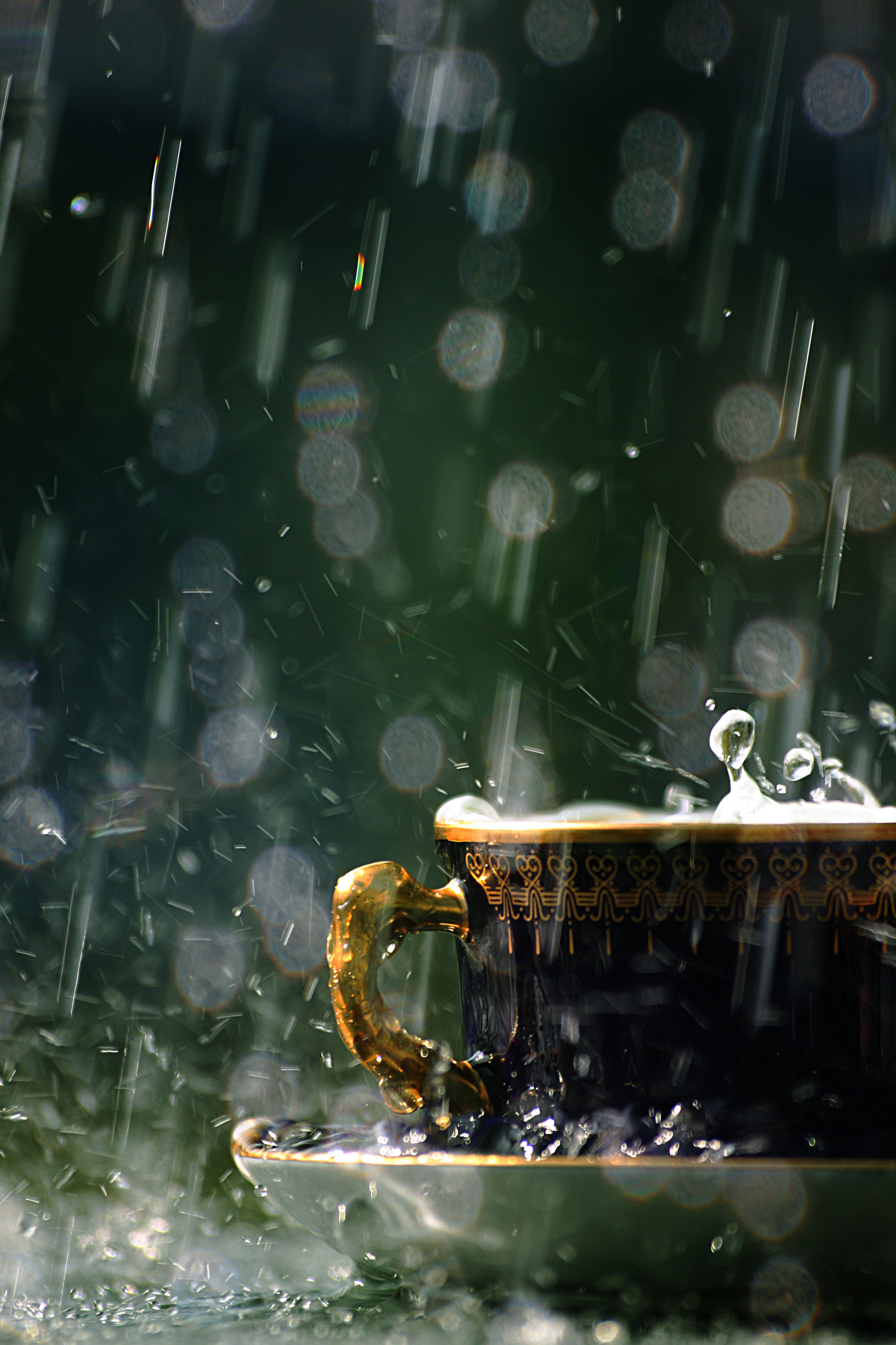 18762 download wallpaper Background, Rain, Cups, Drops screensavers and pictures for free