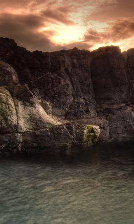 18038 скачать обои Пейзаж, Закат, Горы, Водопады - заставки и картинки бесплатно