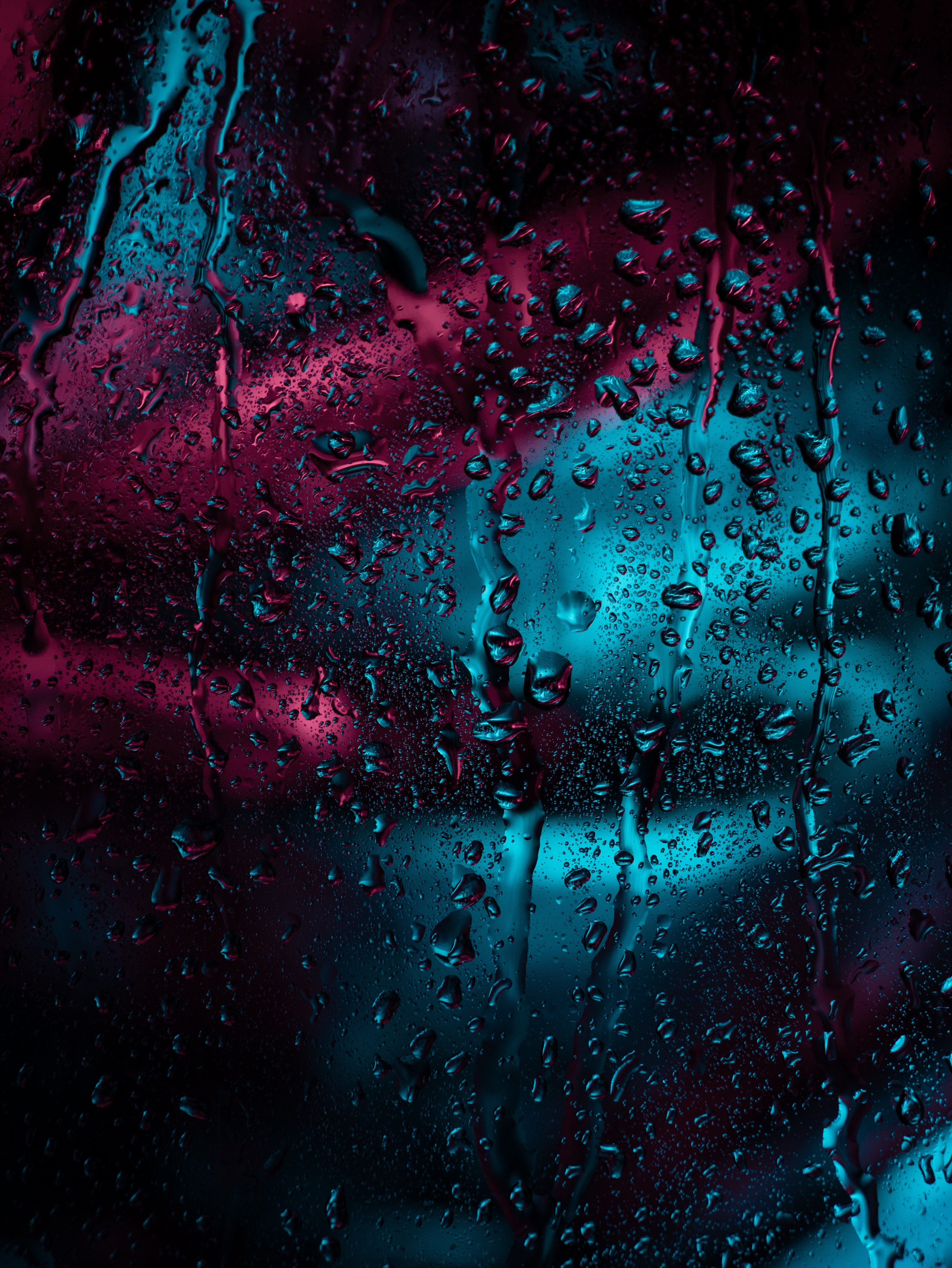114069 Hintergrundbild herunterladen Drops, Regen, Makro, Dunkel, Oberfläche, Feuchtigkeit, Glas, Fenster - Bildschirmschoner und Bilder kostenlos