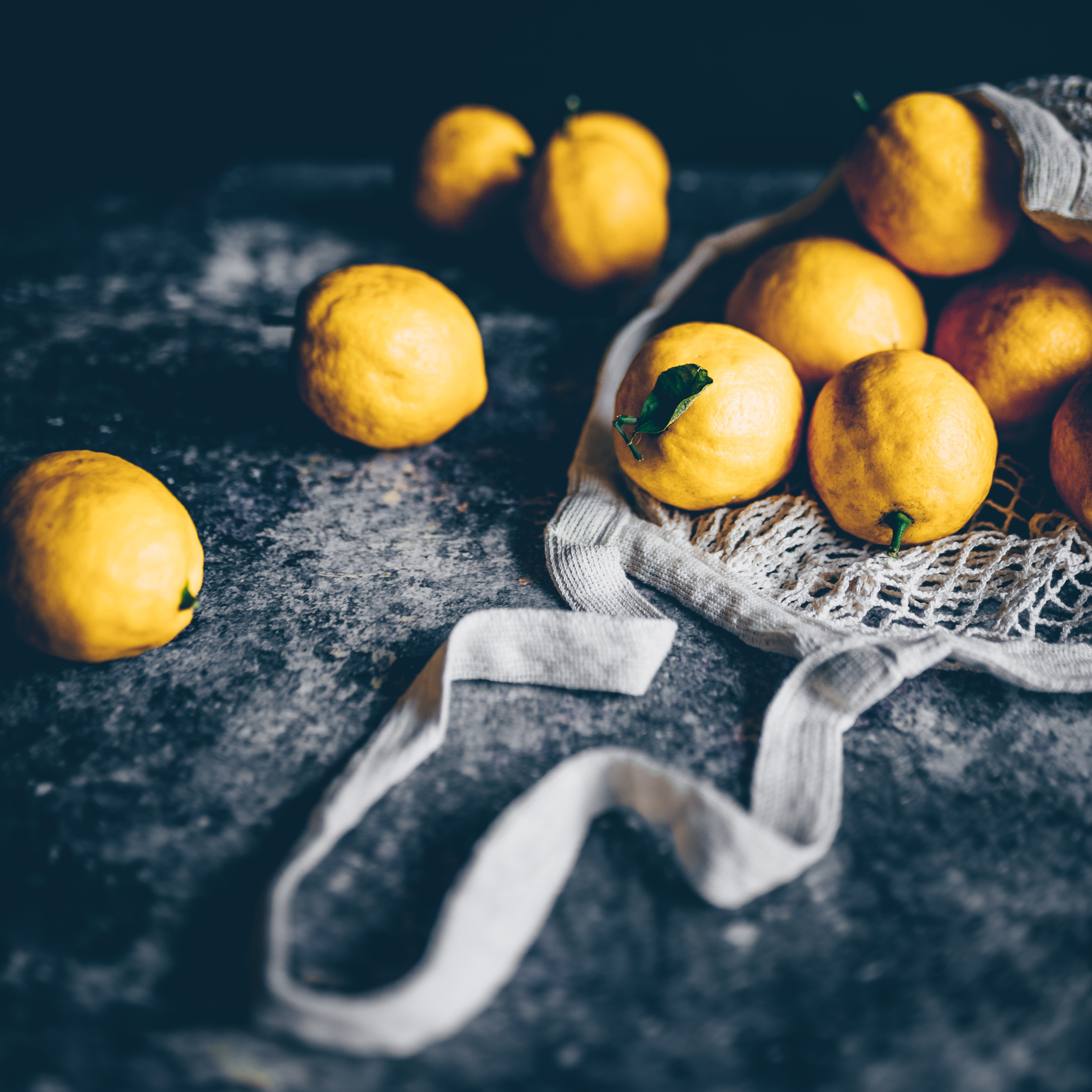 80915 Screensavers and Wallpapers Fruits for phone. Download Food, Citrus, String Bag, Fruits, Lemons pictures for free
