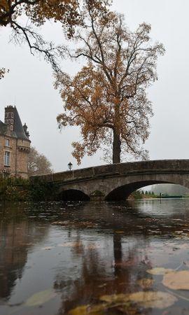25026 скачать обои Пейзаж, Река, Мосты, Осень, Листья, Замки - заставки и картинки бесплатно