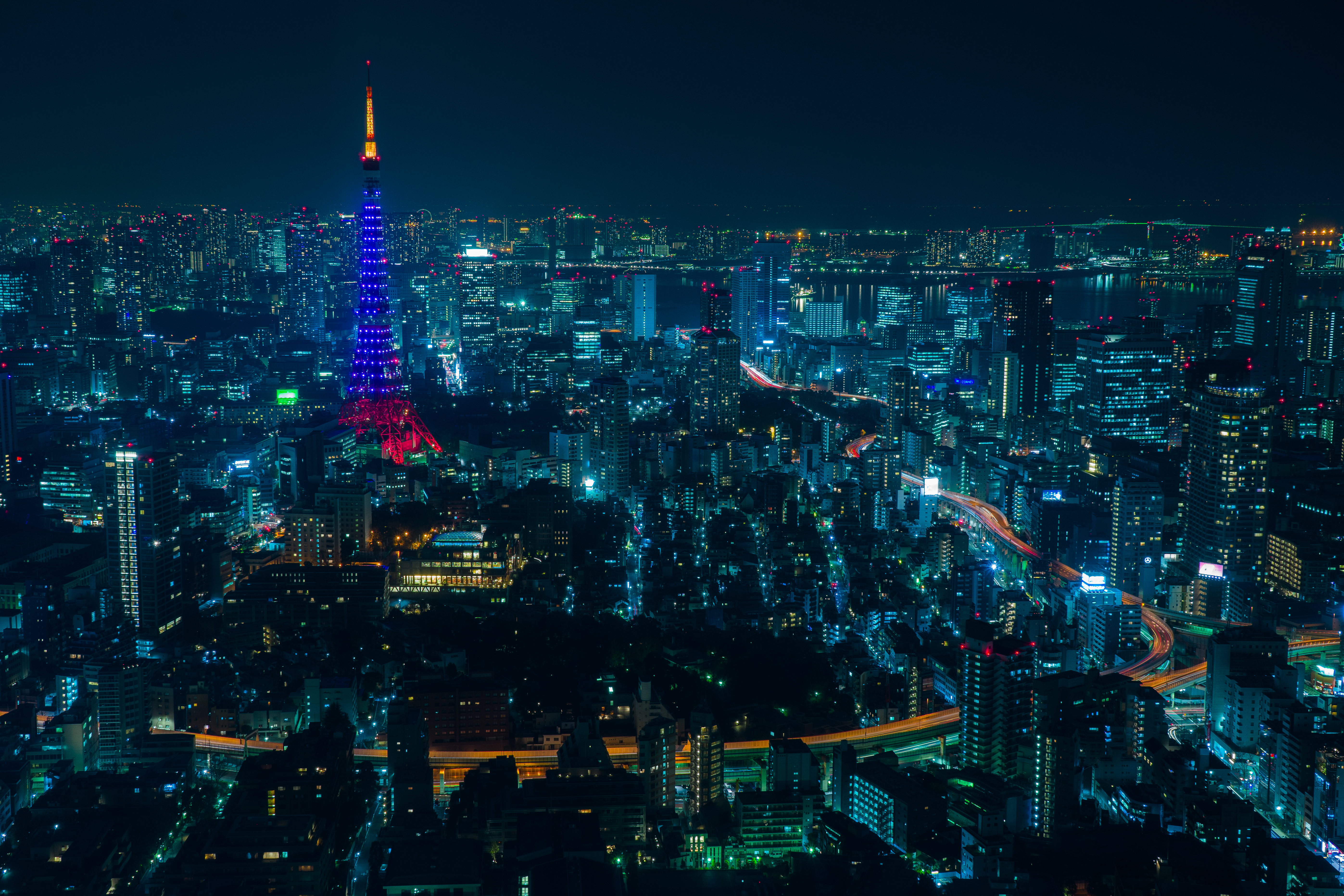 139575 Screensavers and Wallpapers Night City for phone. Download Cities, Night City, Skyscrapers, Tokyo pictures for free