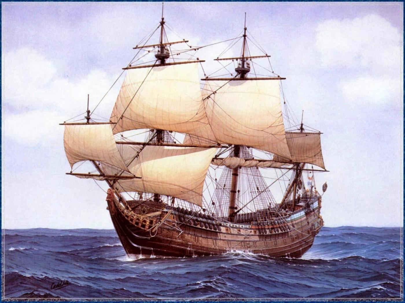 28140 скачать обои Пейзаж, Корабли, Море, Рисунки - заставки и картинки бесплатно