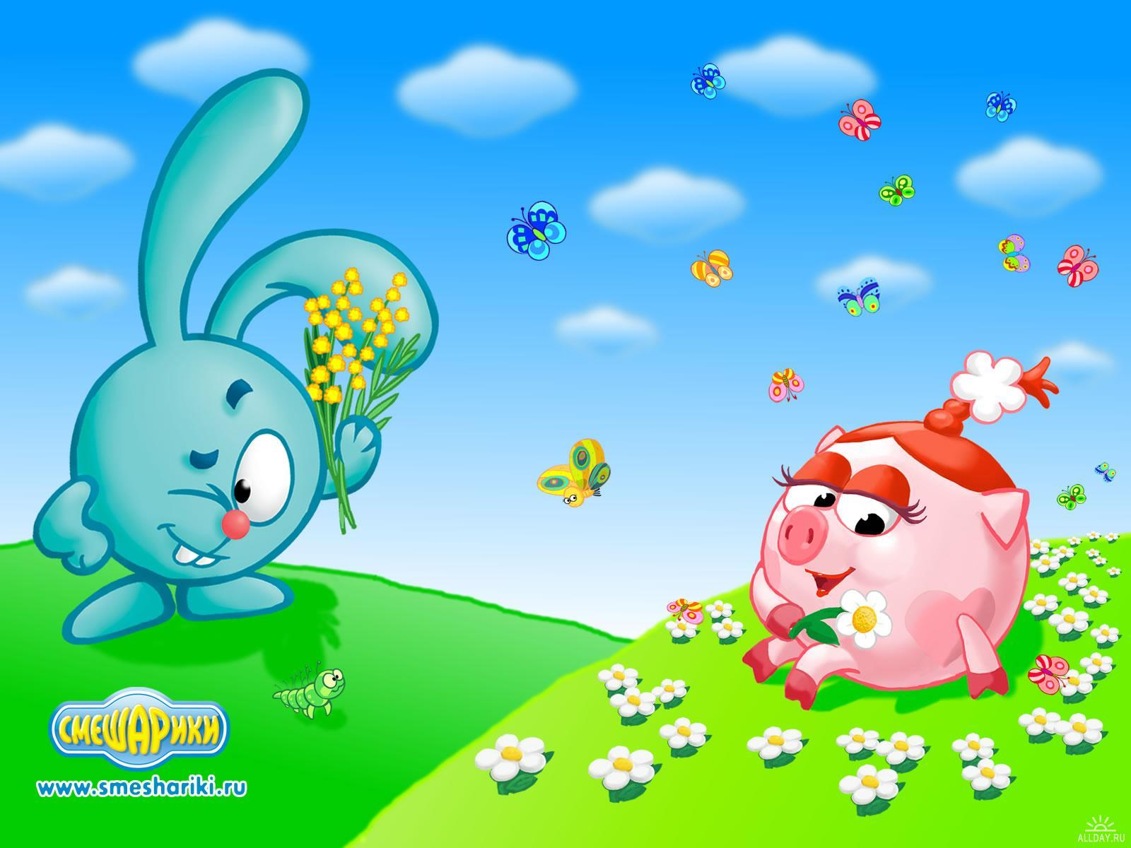 22874 download wallpaper Cartoon, Smeshariki screensavers and pictures for free
