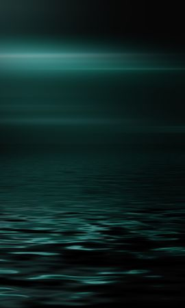 114216 скачать обои Минимализм, Море, Горизонт, Темный, Блеск - заставки и картинки бесплатно