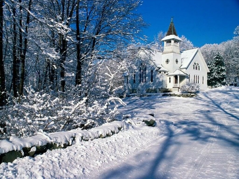 44253 download wallpaper Landscape, Winter, Houses, Snow screensavers and pictures for free