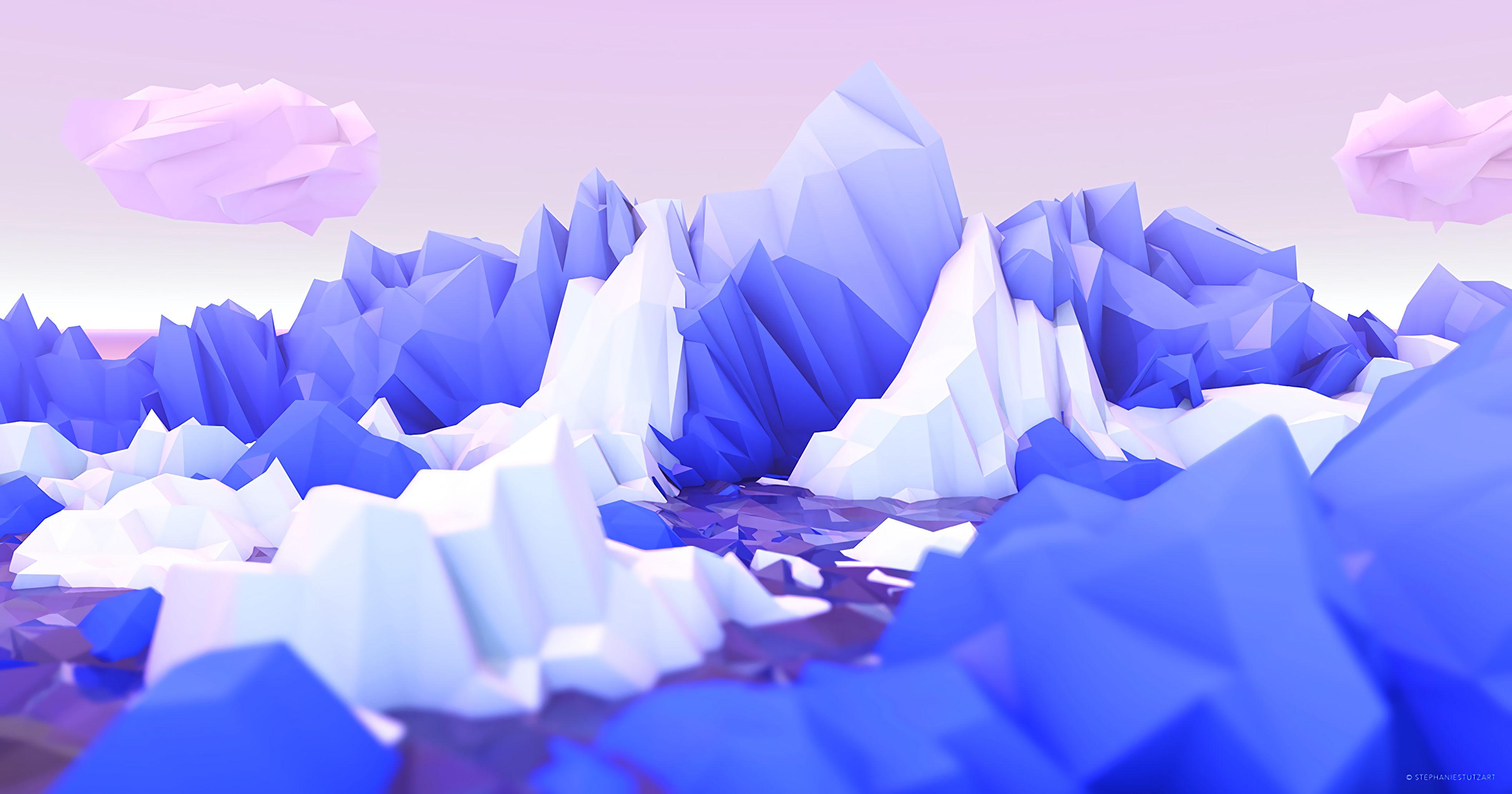 133939 économiseurs d'écran et fonds d'écran Montagnes sur votre téléphone. Téléchargez 3D, Montagnes, Art, Lilas, Polygone images gratuitement