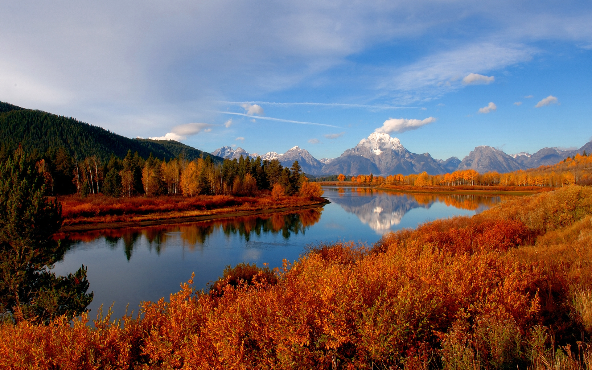 33546 download wallpaper Landscape, Rivers, Mountains screensavers and pictures for free
