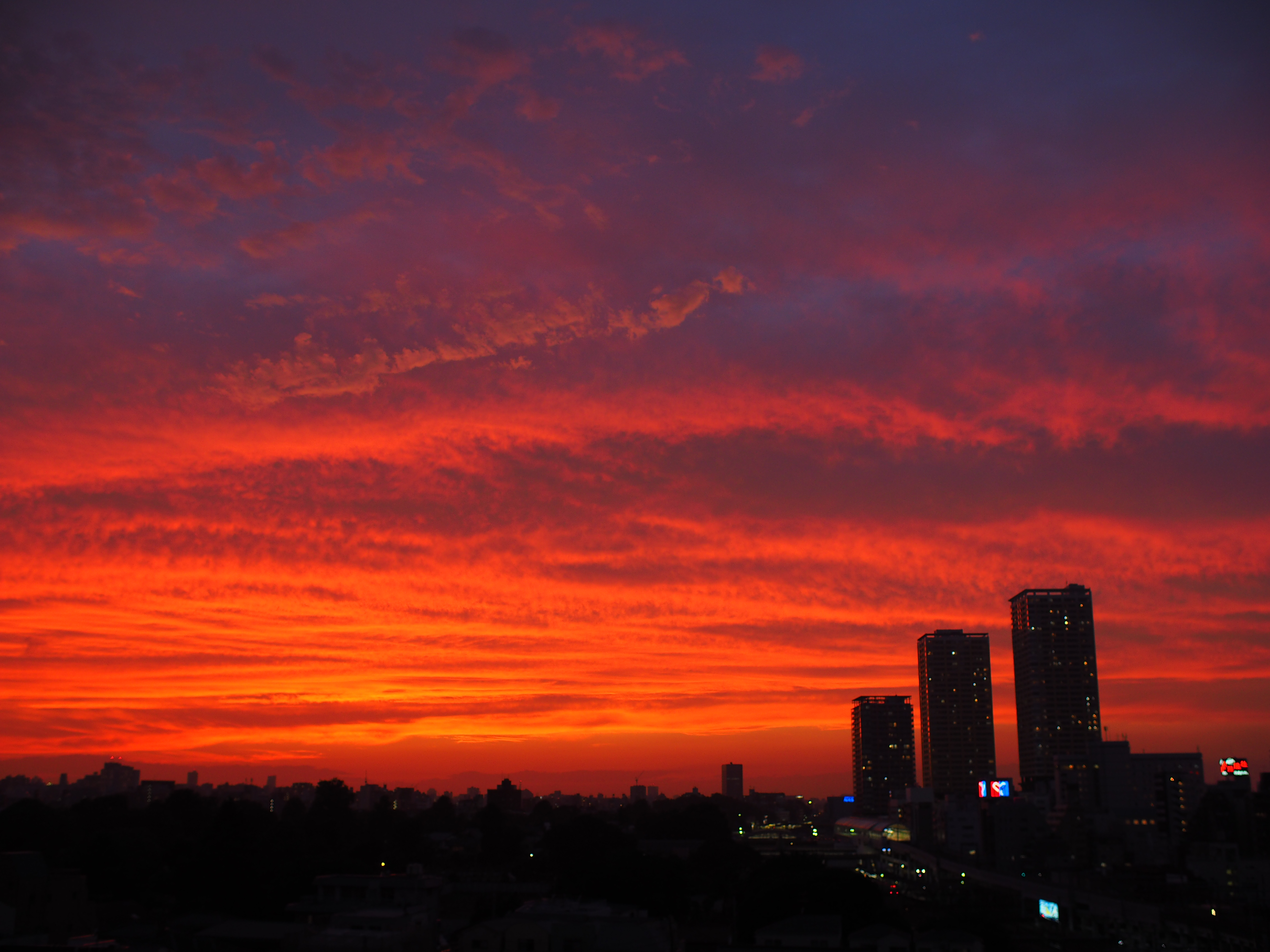 156421 Screensavers and Wallpapers Twilight for phone. Download Cities, Sunset, Twilight, City, Building, View From Above, Dusk pictures for free