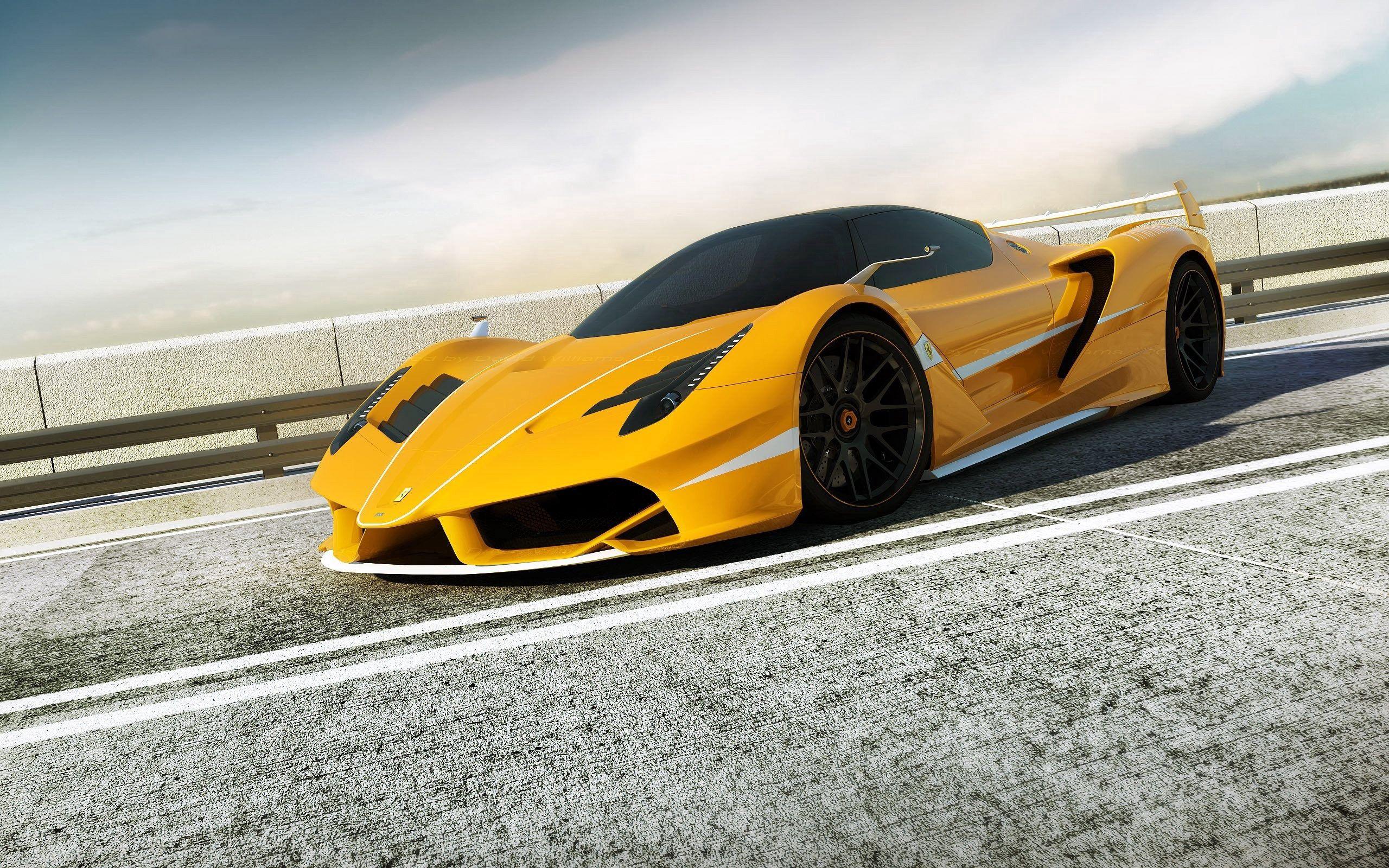 156243 télécharger le fond d'écran Ferrari, Voitures, Vue De Côté, Rendre, F706 Jaune - économiseurs d'écran et images gratuitement
