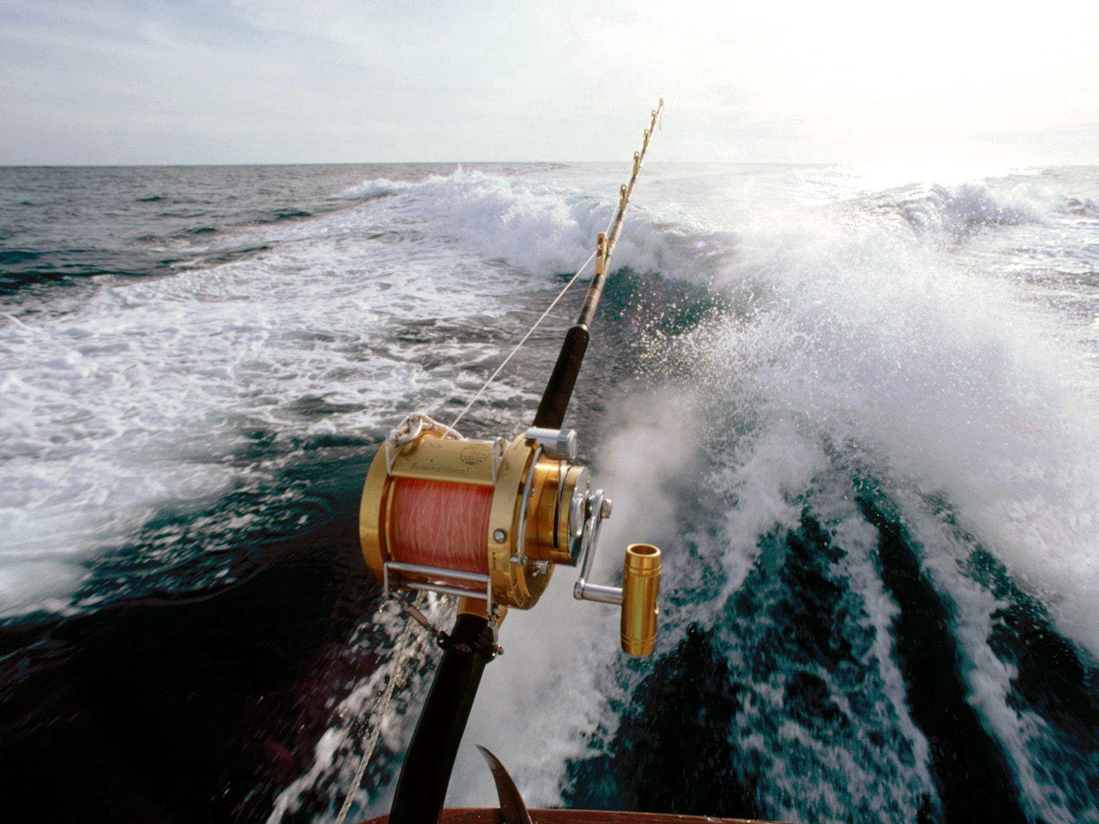 128139 скачать обои Спорт, Рыбалка, Катер, Море, Удочка, Волны - заставки и картинки бесплатно