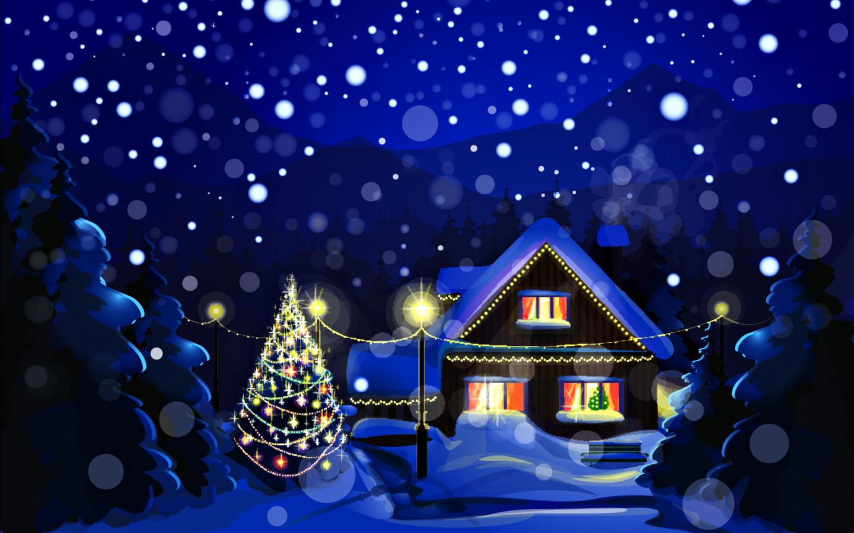 15932 скачать обои Зима, Дома, Снег, Рисунки - заставки и картинки бесплатно