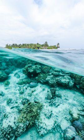 147171壁紙のダウンロード自然, 海洋, 大洋, 水中の世界, 水中ワールド, 水, 島, スカイ-スクリーンセーバーと写真を無料で