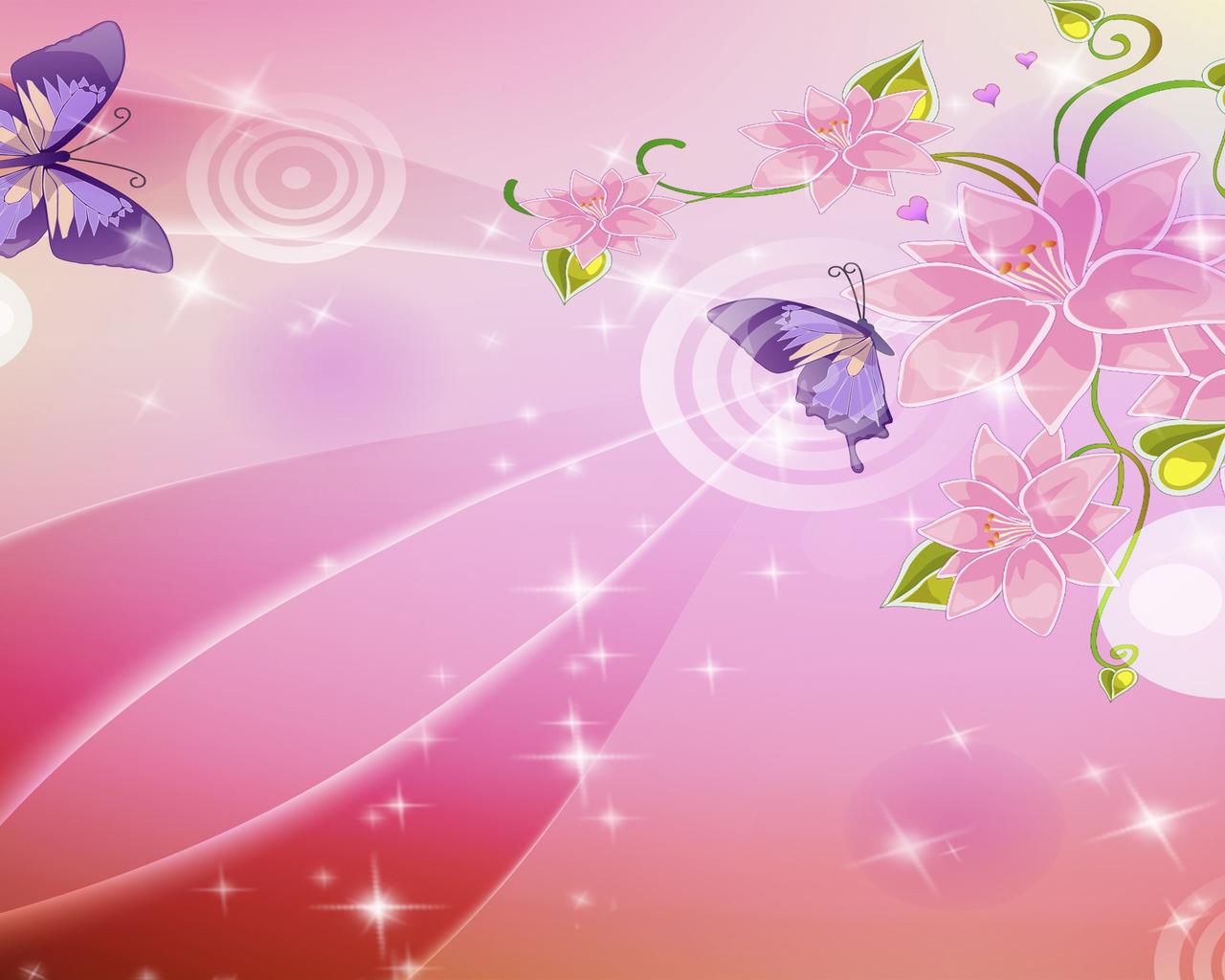 18141 скачать обои Бабочки, Цветы, Насекомые, Фон - заставки и картинки бесплатно