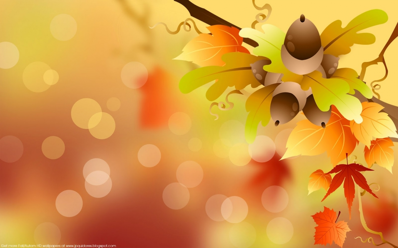 23827 скачать обои Фон, Осень, Листья, Рисунки, Желуди - заставки и картинки бесплатно