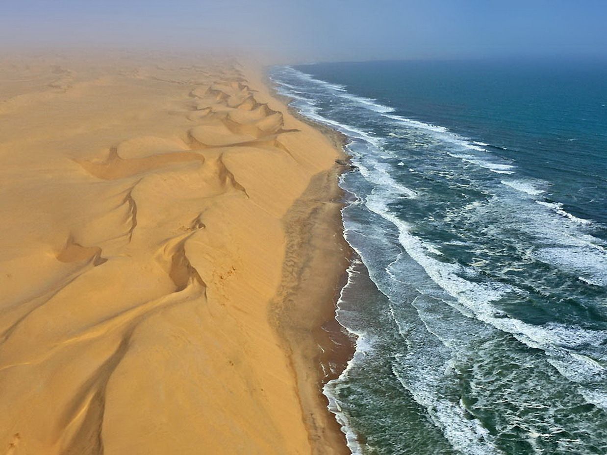 20809 download wallpaper Landscape, Sea, Waves, Sand, Desert screensavers and pictures for free