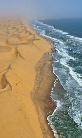 20809 скачать обои Пейзаж, Море, Волны, Песок, Пустыня - заставки и картинки бесплатно