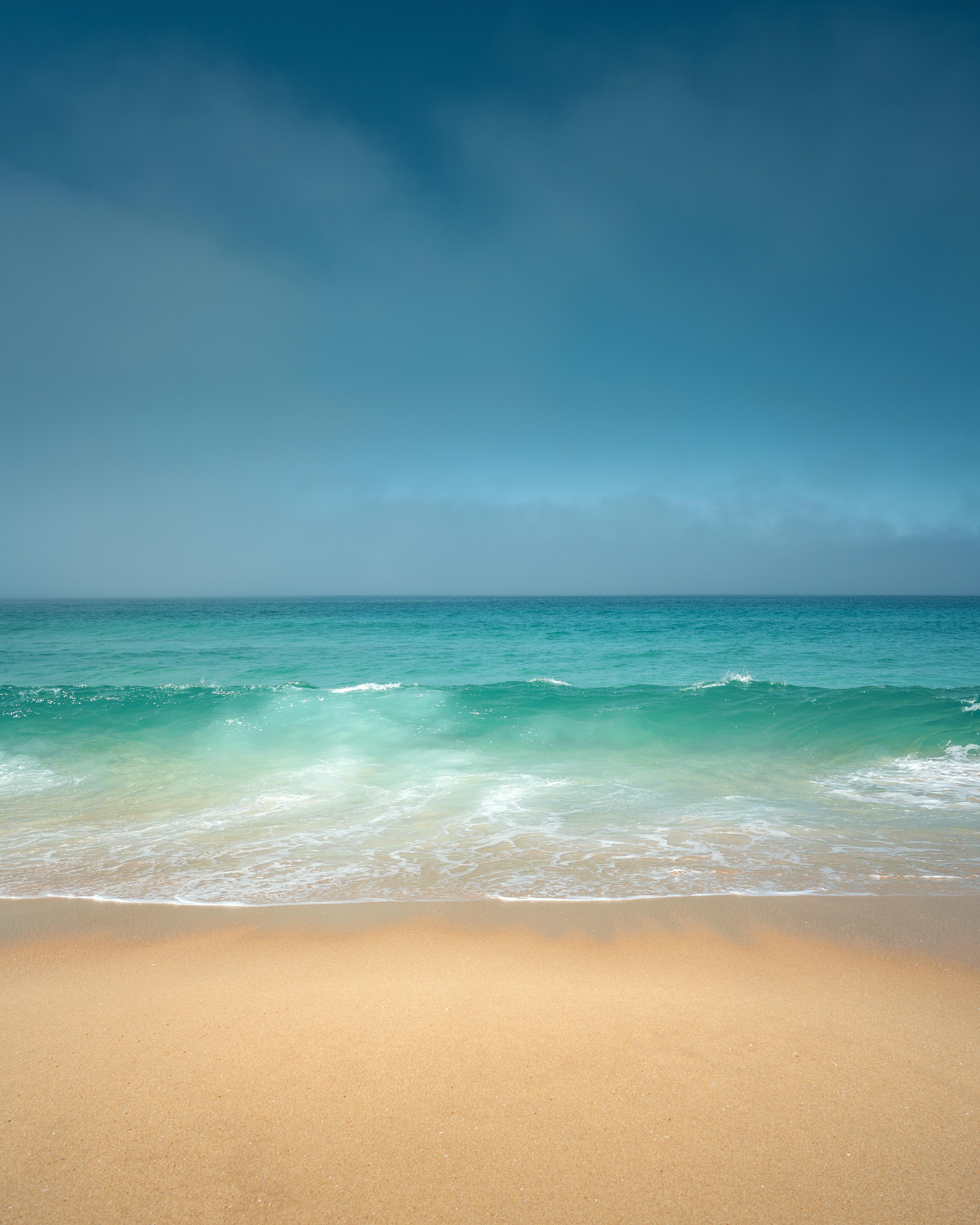 106928 Заставки и Обои Волны на телефон. Скачать Природа, Океан, Берег, Горизонт, Волны картинки бесплатно
