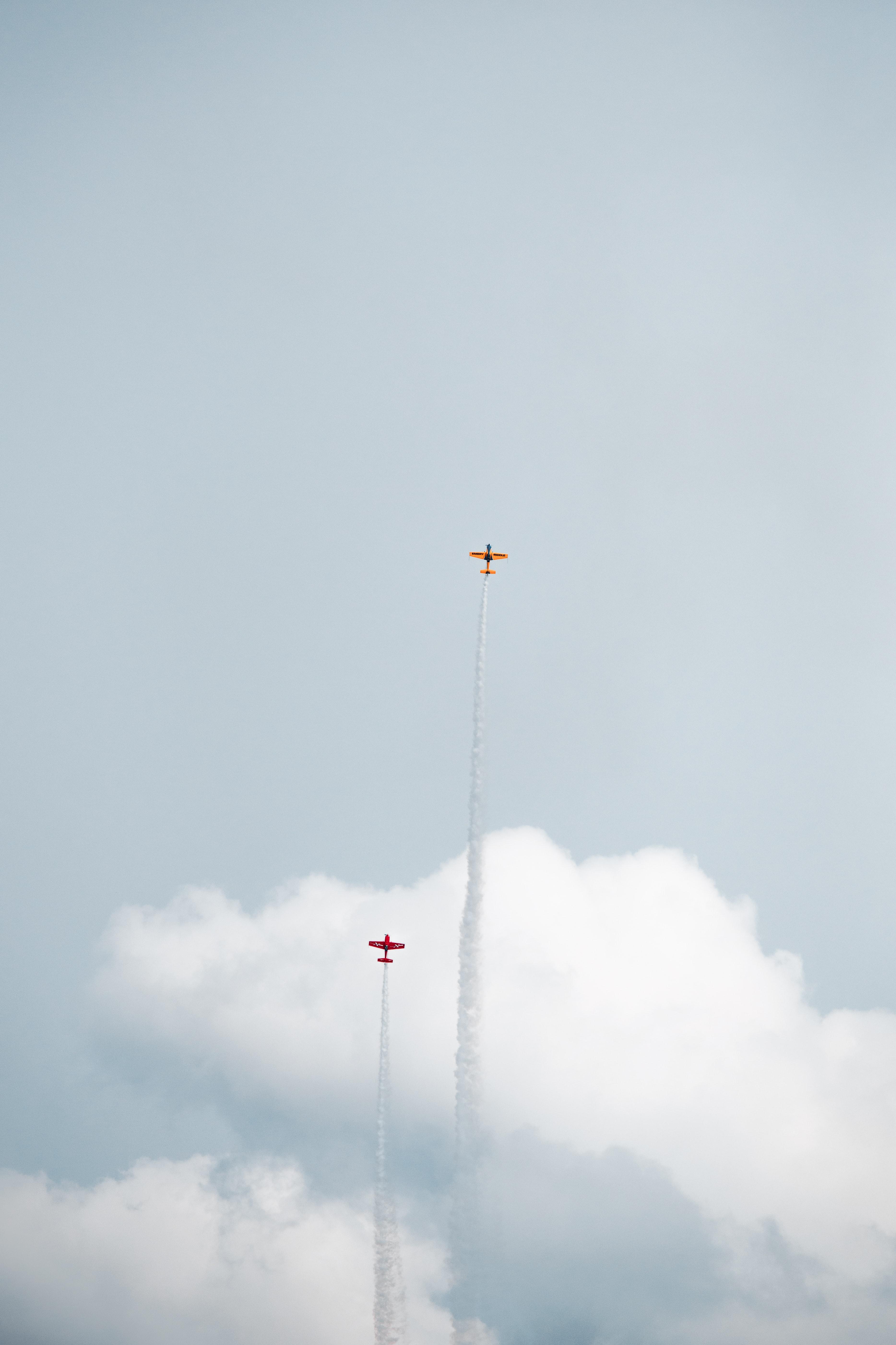 155136 скачать обои Разное, След, Небо, Облака, Полет, Самолеты - заставки и картинки бесплатно