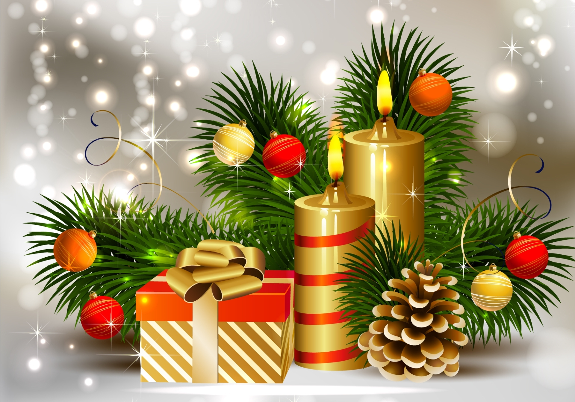 13781 download wallpaper Holidays, New Year, Christmas, Xmas, Candles screensavers and pictures for free