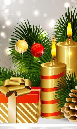 13781 descargar fondo de pantalla Vacaciones, Año Nuevo, Navidad, Velas: protectores de pantalla e imágenes gratis