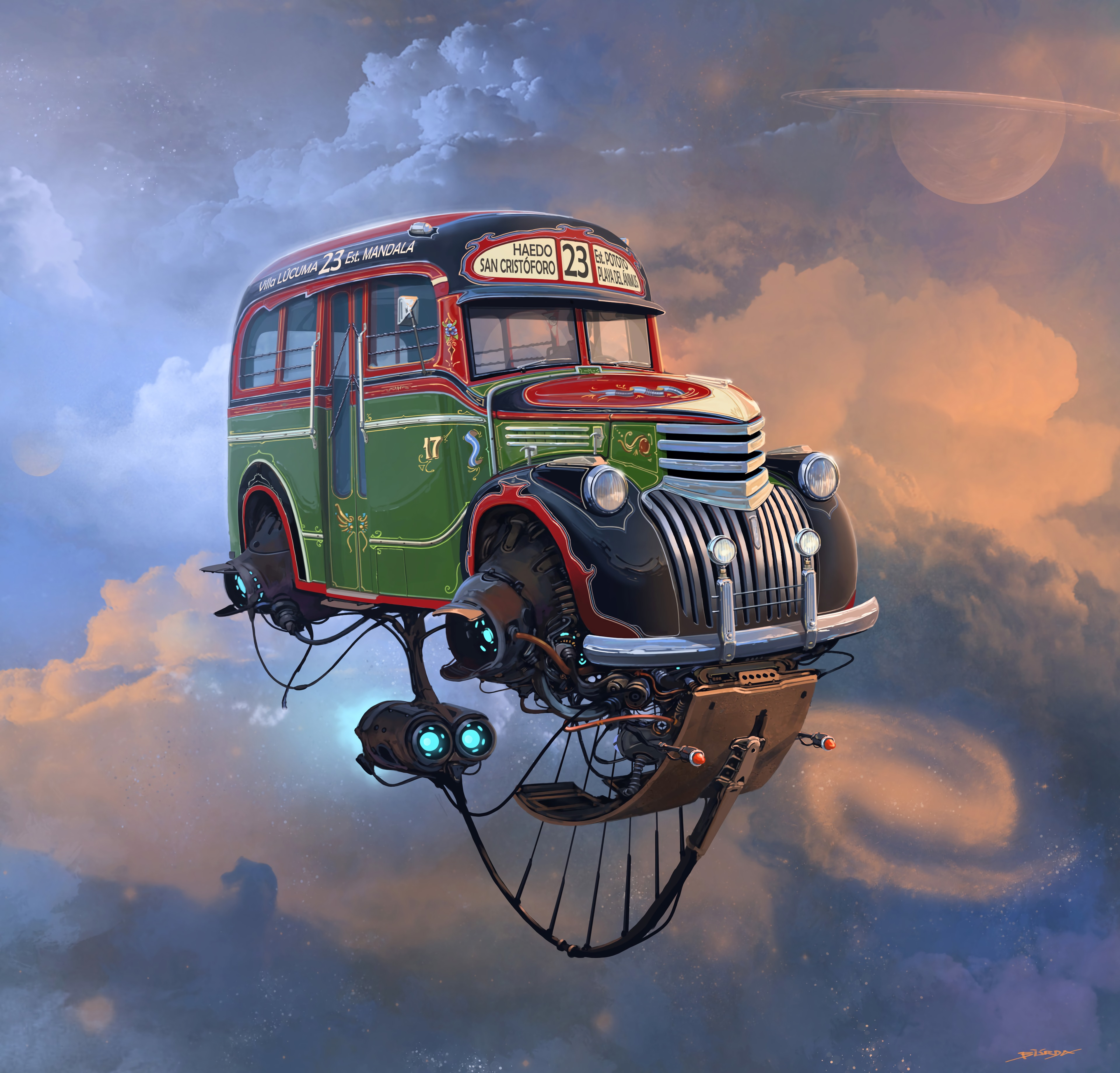 65667 Screensavers and Wallpapers Fiction for phone. Download Sky, Art, Car, Machine, Fiction, That's Incredible, Future pictures for free