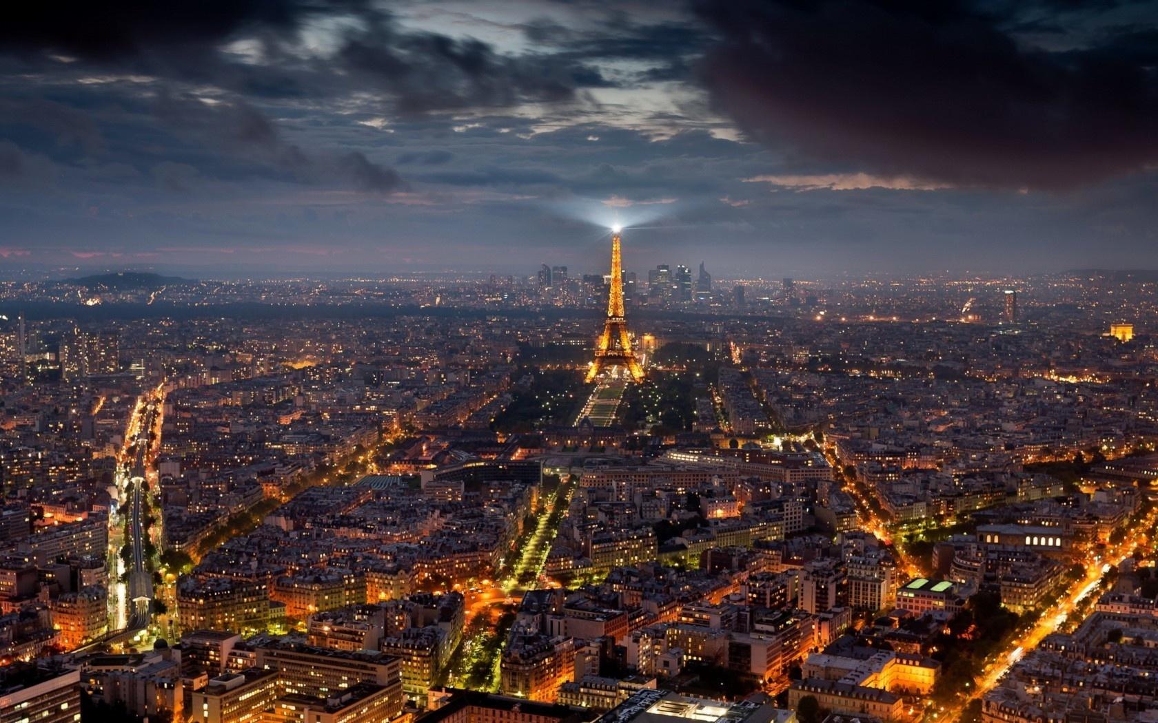 23981 скачать обои Пейзаж, Города, Ночь, Париж, Эйфелева Башня - заставки и картинки бесплатно
