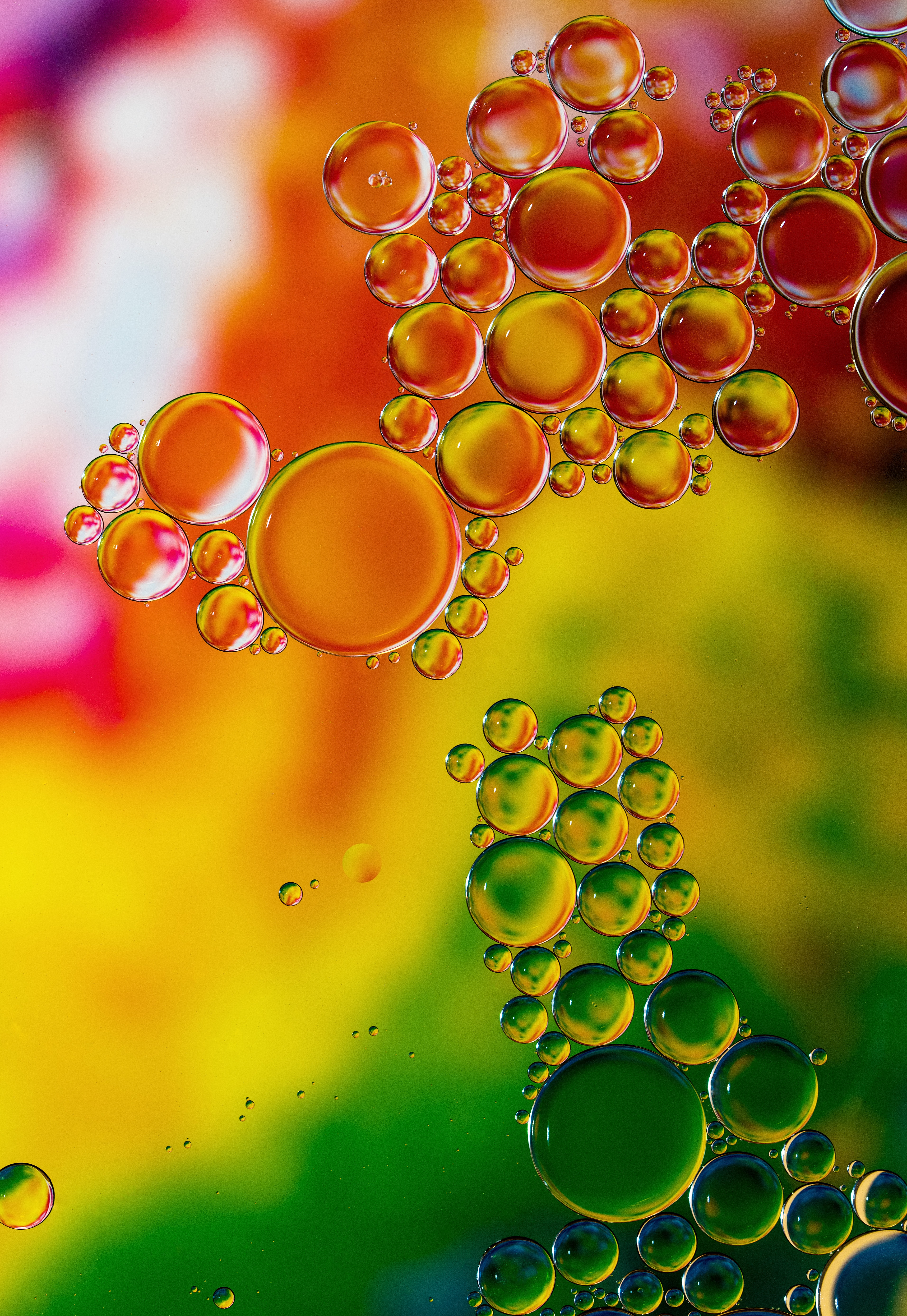100595 download wallpaper Macro, Liquid, Transparent, Multicolored, Motley, Bubbles screensavers and pictures for free