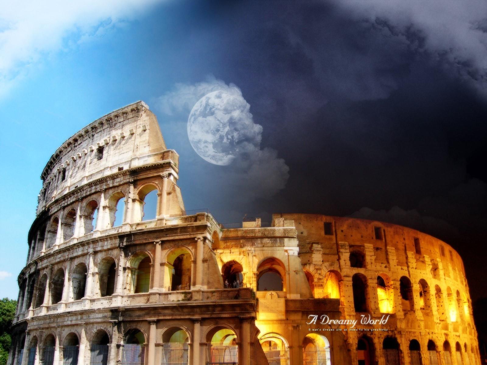 14130 скачать обои Пейзаж, Артфото, Архитектура, Колизей, Италия - заставки и картинки бесплатно