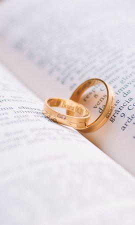 110241 Заставки и Обои Свадьба на телефон. Скачать Свадьба, Книга, Пара, Любовь, Кольца картинки бесплатно