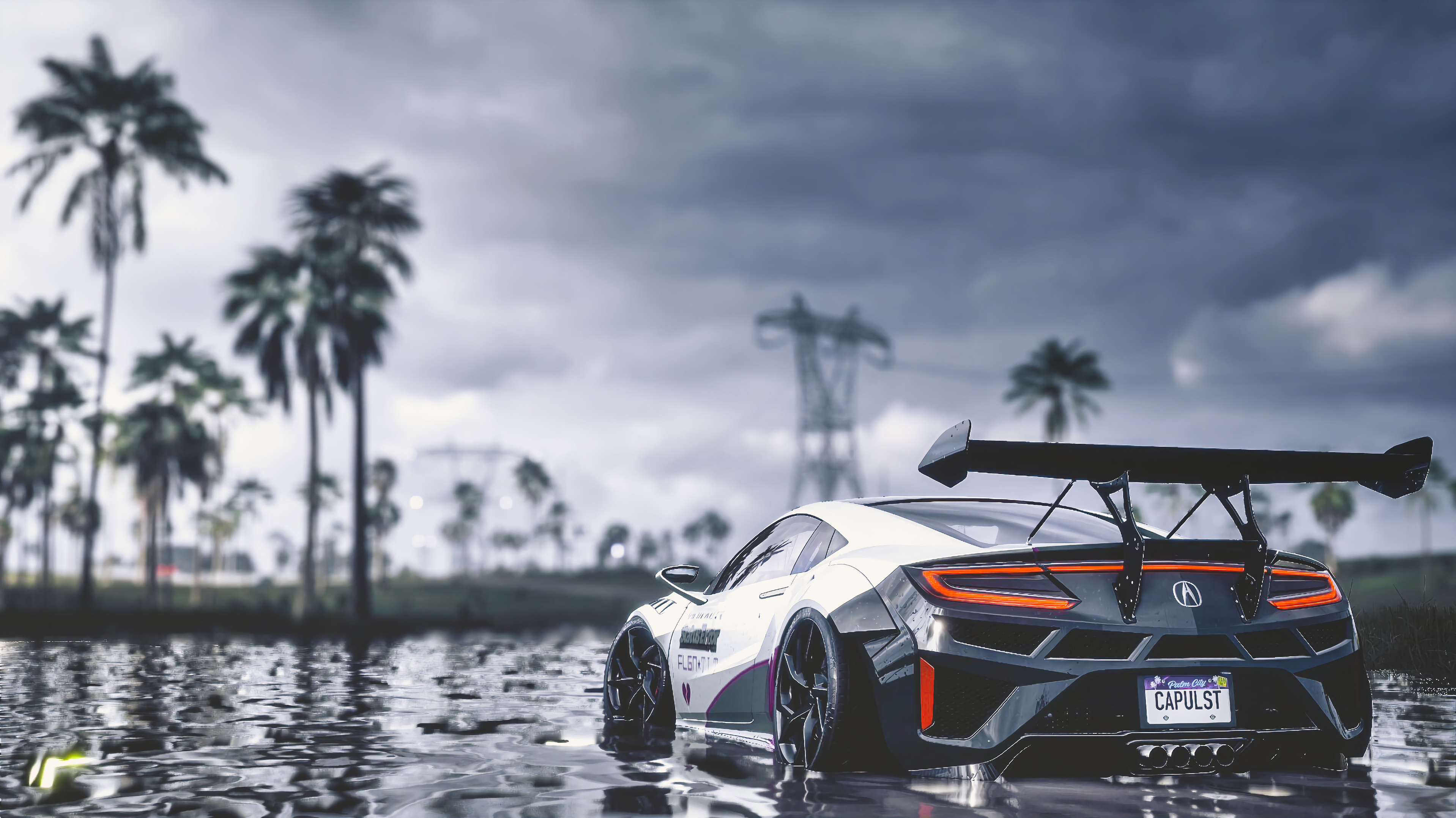 101862 Screensavers and Wallpapers Wet for phone. Download Sports, Water, Cars, Wet, Car, Machine, Grey, Sports Car pictures for free