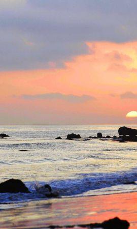 28229 скачать обои Пейзаж, Закат, Море, Облака, Пляж - заставки и картинки бесплатно