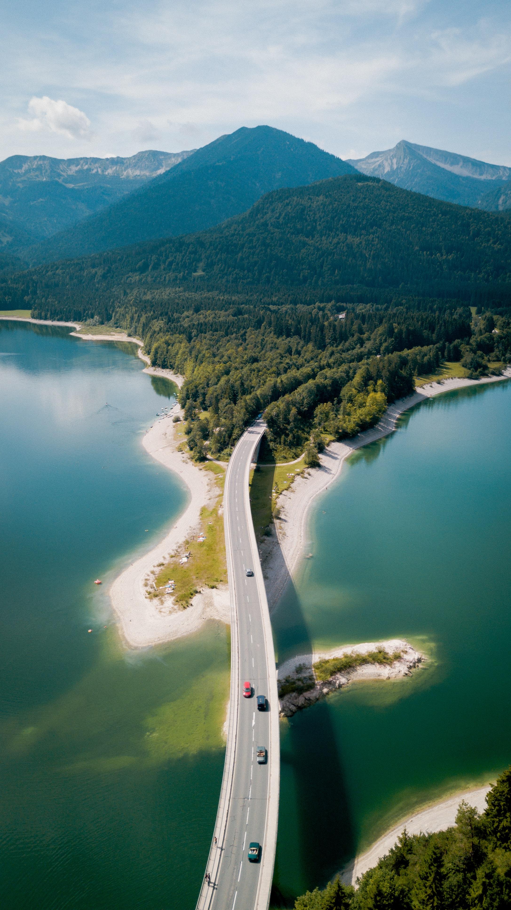 127661 économiseurs d'écran et fonds d'écran Rivières sur votre téléphone. Téléchargez Rivières, Nature, Montagnes, Vue D'en-Haut, Vue D'En Haut, Forêt, Pont images gratuitement