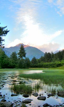 33688 скачать обои Пейзаж, Река, Горы - заставки и картинки бесплатно