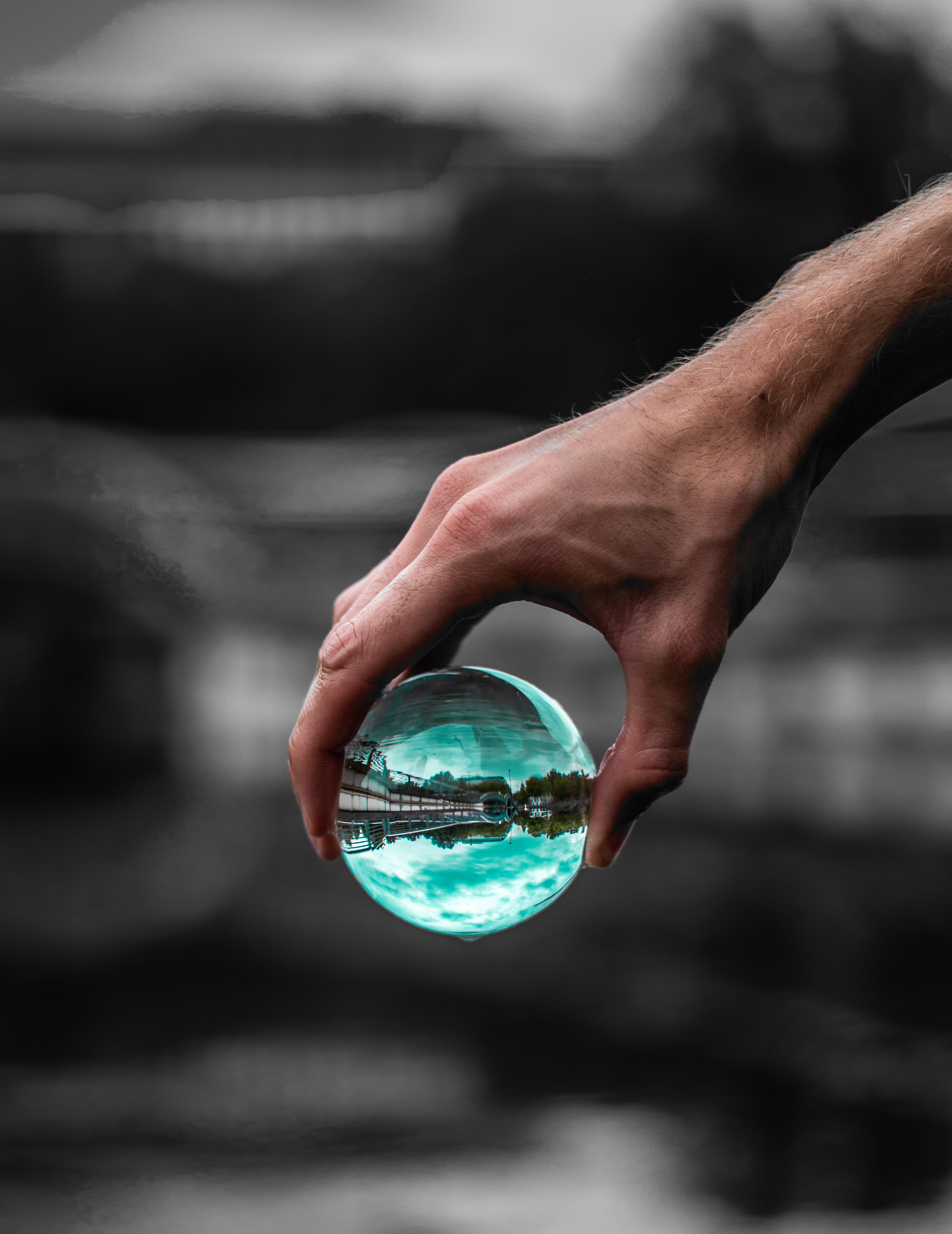 151770 Screensavers and Wallpapers Hand for phone. Download Miscellanea, Miscellaneous, Ball, Glass, Hand, Transparent, Reflection pictures for free