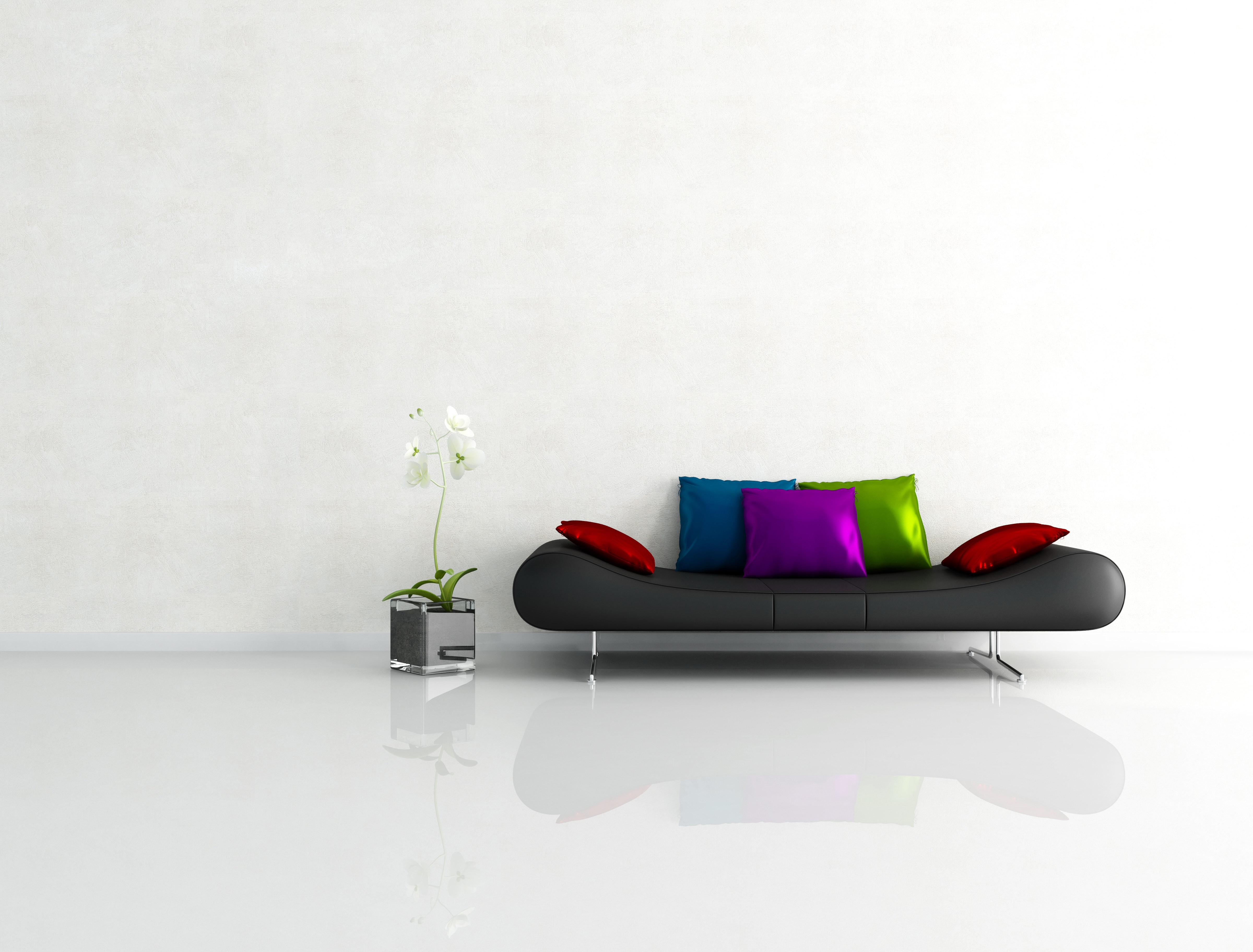 71864 Screensavers and Wallpapers Interior for phone. Download Interior, Miscellanea, Miscellaneous, Minimalism, Sofa, Graphics, Cushions, Pillows pictures for free