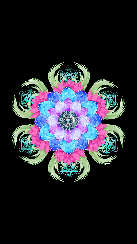 116416 download wallpaper Art, Mandala, Lotus, Flower, Patterns screensavers and pictures for free