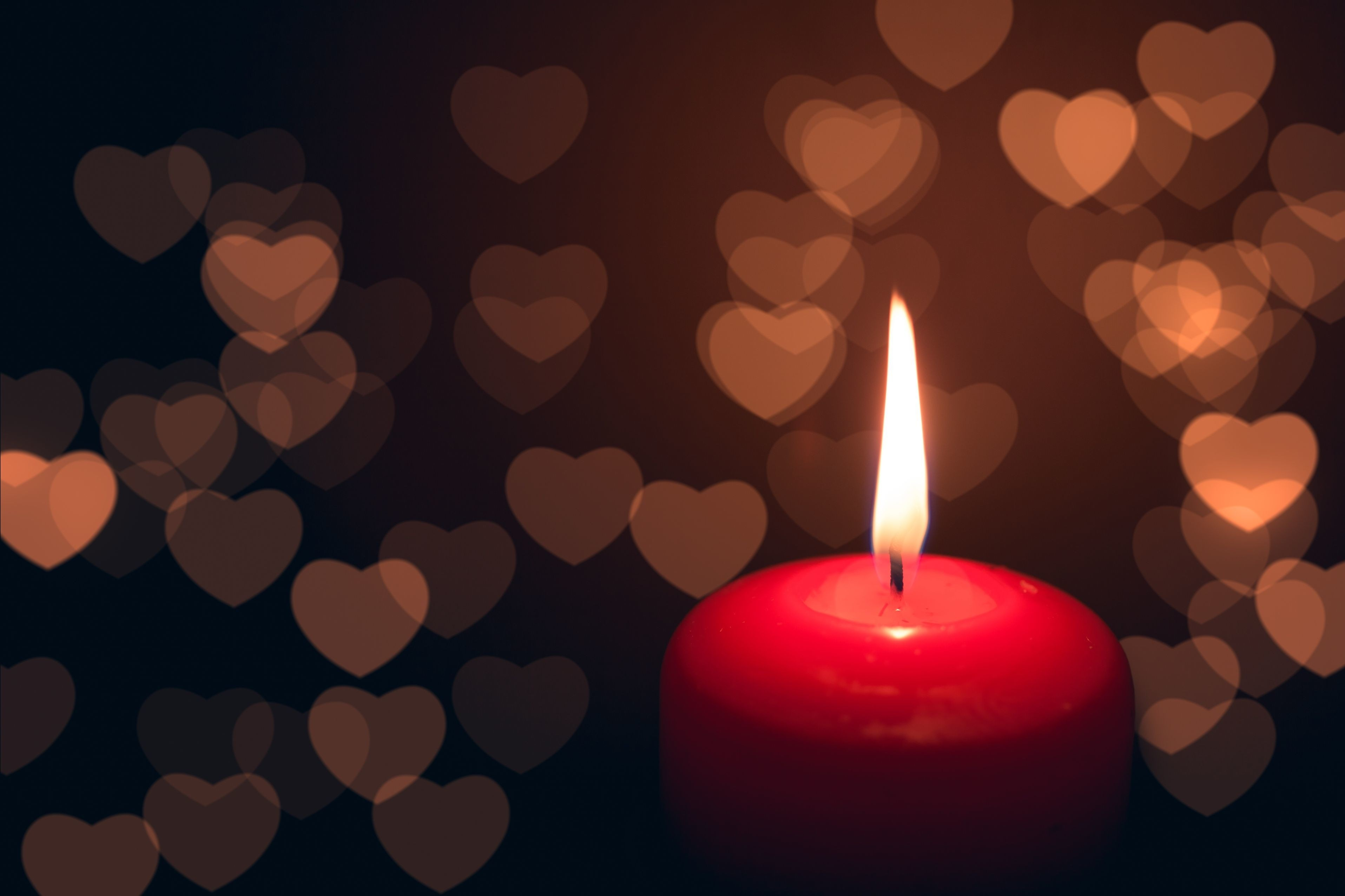 83662 free wallpaper 1080x2400 for phone, download images Hearts, Love, Dark, Candle 1080x2400 for mobile