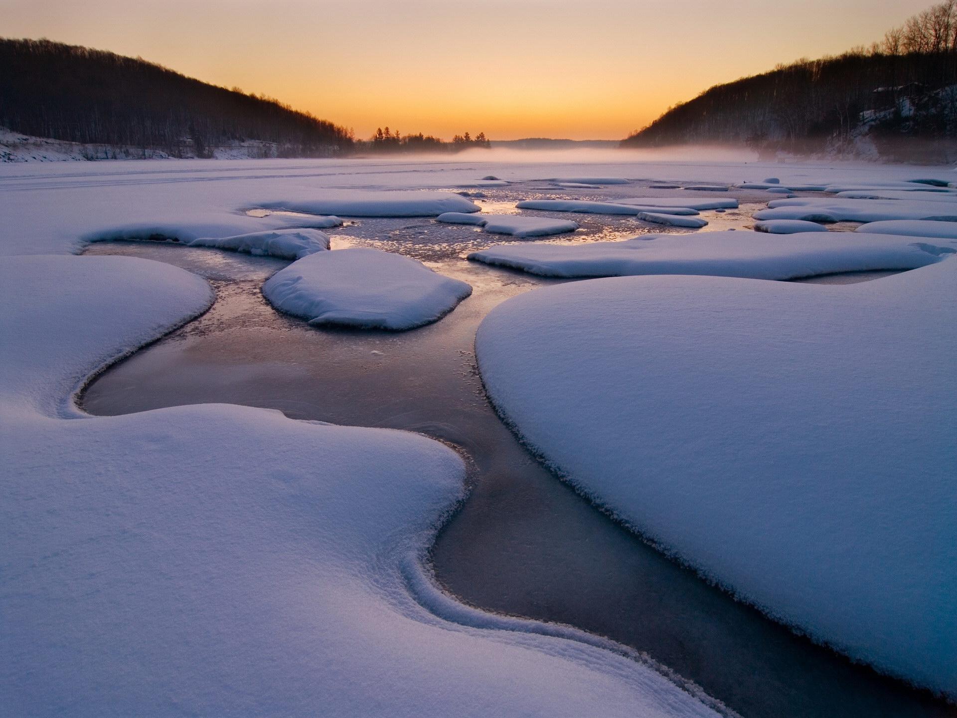 118118 скачать обои Природа, Снег, Река, Лед, Холод, Зима, Вода - заставки и картинки бесплатно