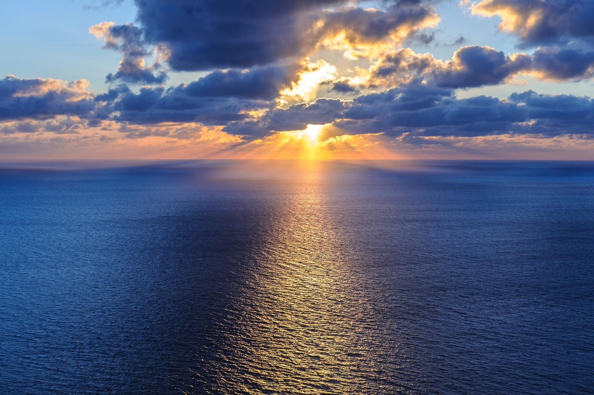 155666 завантажити шпалери Море, Природа, Хмари, Небокрай, Горизонт, Океан - заставки і картинки безкоштовно