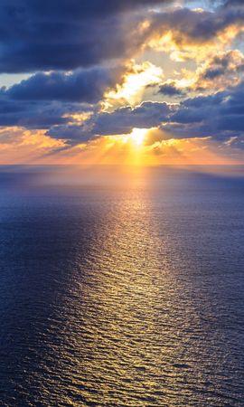 155666壁紙のダウンロード自然, 海洋, 大洋, 海, 地平線, 雲-スクリーンセーバーと写真を無料で