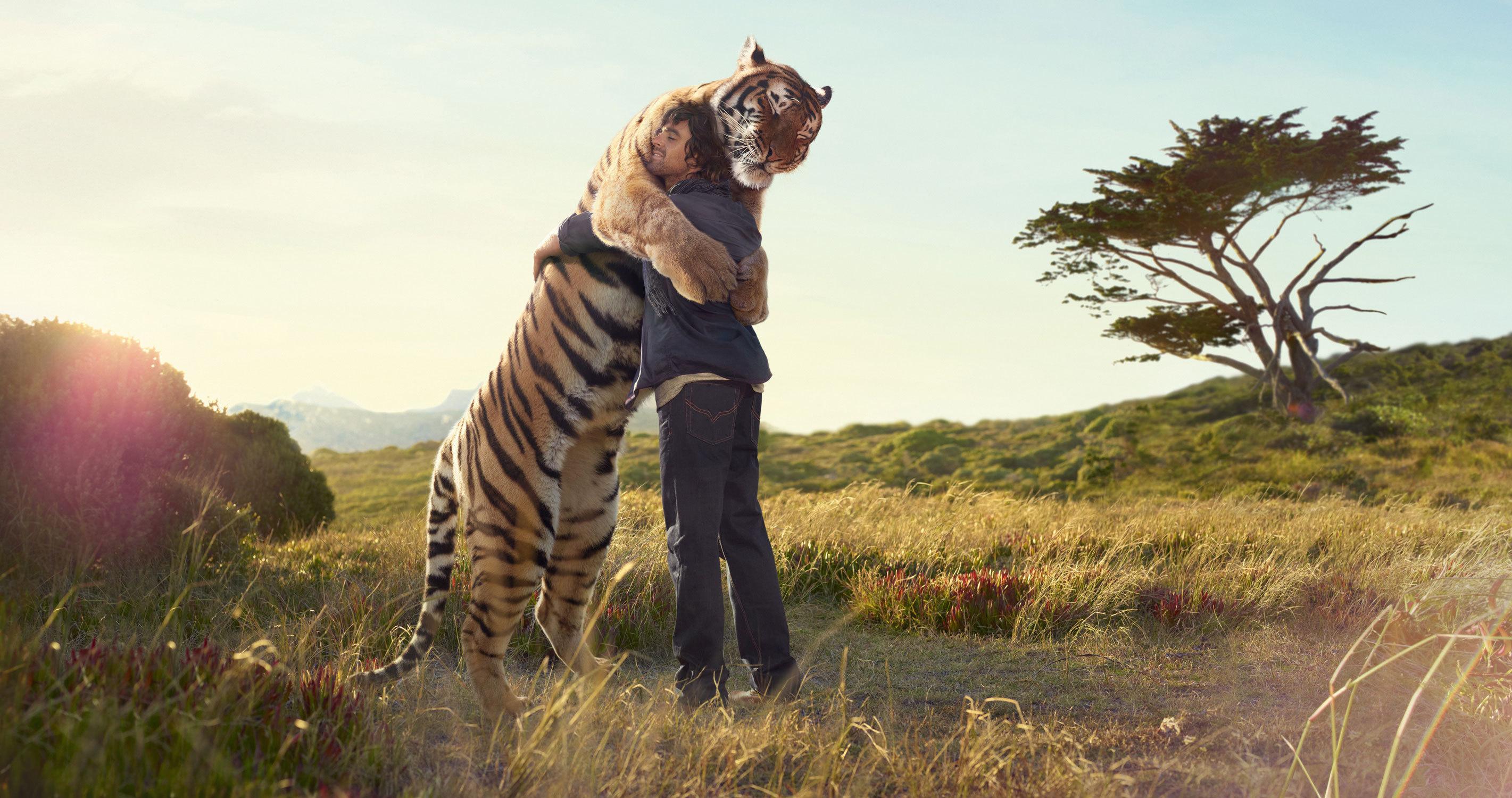 16400 descargar fondo de pantalla Animales, Personas, Tigres: protectores de pantalla e imágenes gratis