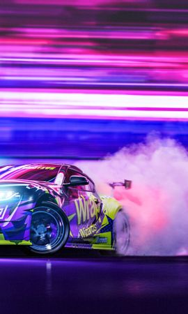 65097 Screensavers and Wallpapers Sports for phone. Download Cars, Sports Car, Sports, Drift, Neon, Speed, Smoke pictures for free