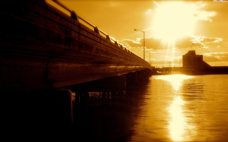 24014 скачать обои Пейзаж, Мосты, Солнце - заставки и картинки бесплатно