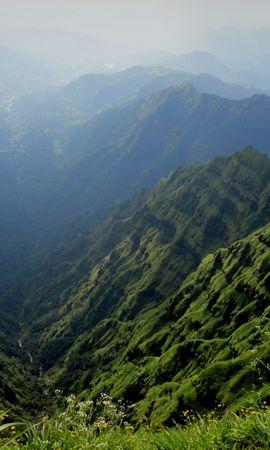 98218 скачать обои Природа, Туман, Горы, Пейзаж - заставки и картинки бесплатно