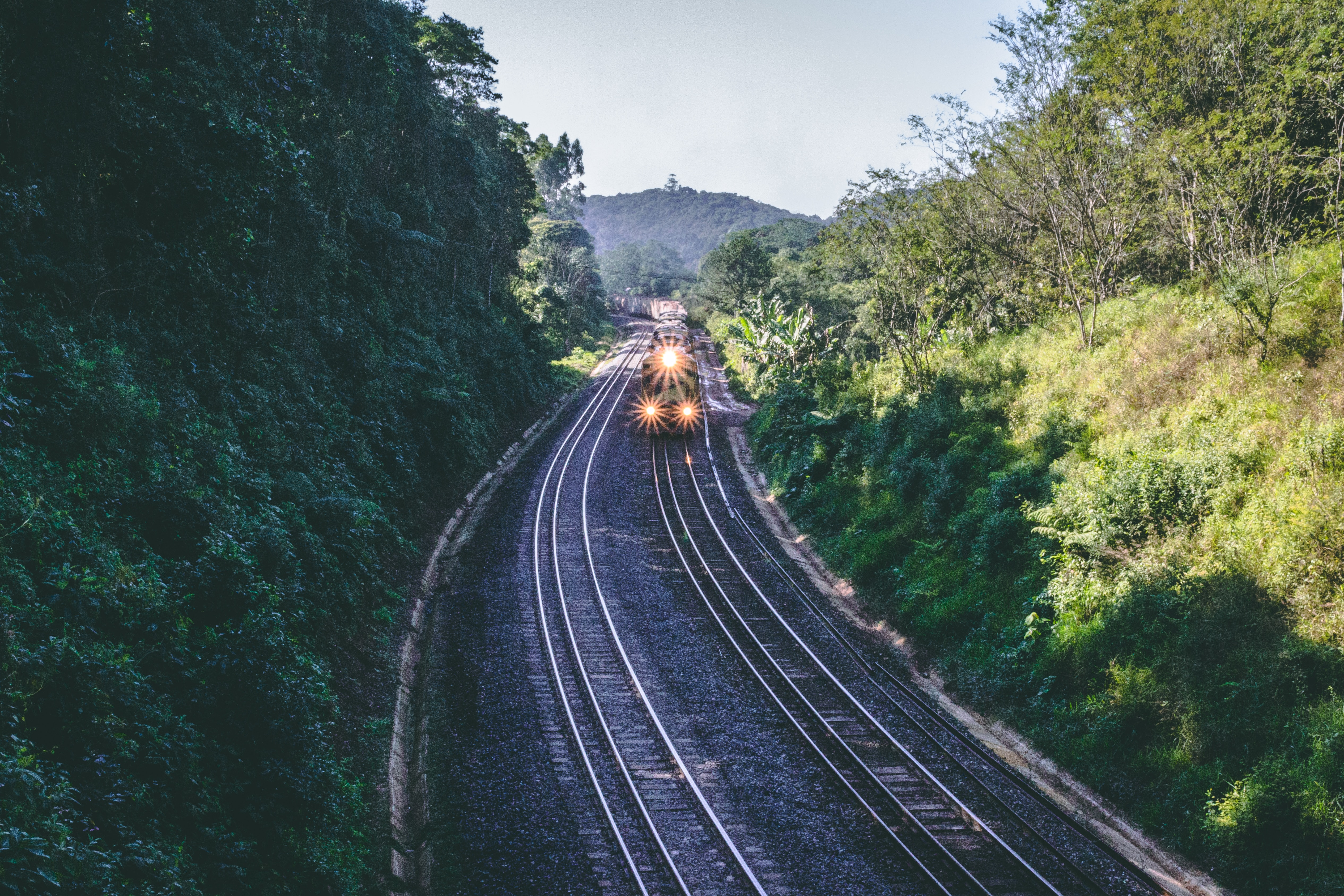 102457壁紙のダウンロードその他, 雑, 電車, 列車, レール, 鉄道, 自然-スクリーンセーバーと写真を無料で